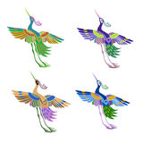 Ethnic abstract pattern magic birds in the Royalty Free Stock Images