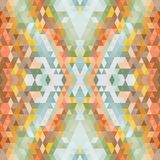 Ethnic abstract vector pattern. Geometric background. Yellow and orange colors, natural brown tone. ethnic orange brown Royalty Free Stock Photos