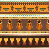 Ethnic african abstract geometric seamless fabric Royalty Free Stock Photos