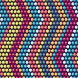 Ethnic african beads abstract color seamless Royalty Free Stock Photography