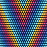 Ethnic african beads abstract color seamless Stock Photo