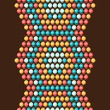 Ethnic african beads abstract color seamless Royalty Free Stock Photo