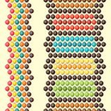 Ethnic african beads abstract color seamless Stock Photography