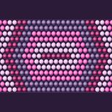 Ethnic african beads abstract color seamless Royalty Free Stock Photos