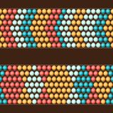 Ethnic african beads abstract color seamless Stock Image