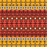 Ethnic African symbols background Stock Photography