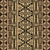 Ethnic african texture with traditional ornaments Royalty Free Stock Image