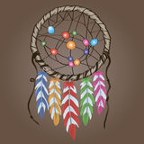 Ethnic amulet Dreamcatcher Stock Images