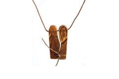 Ethnic amulet isolated on white. Ethnic wooden amulet isolated on white Royalty Free Stock Photos