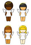 Ethnic Angel Girls Stock Image