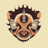 Ethnic animal. Geometry bear head. vector illustration