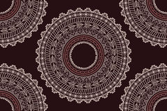 Ethnic Aztec circle ornament seamless pattern Royalty Free Stock Images