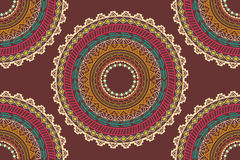 Ethnic Aztec circle ornament seamless pattern Royalty Free Stock Image