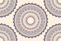 Ethnic Aztec circle ornament seamless pattern Stock Photography