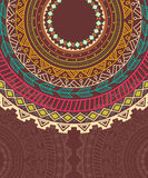 Ethnic Aztec circle ornament Royalty Free Stock Photography