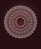 Ethnic Aztec circle ornament Stock Photography