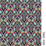 Ethnic aztec pattern. Seamless ethnic vector hand drawn pattern with geometric elements Stock Images
