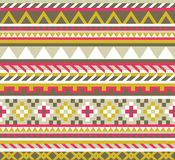 Ethnic aztec seamless pattern Royalty Free Stock Photos