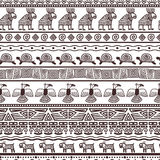 Ethnic aztecs or peruvian pattern template royalty free illustration