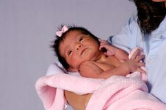Ethnic Baby 1. Hispanic newborn baby girl Stock Image
