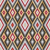 Ethnic background. Background with ethnic motifs seamless pattern vector illustration