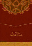 Ethnic background in Aboriginal art style Stock Images