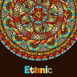 Ethnic background design with hand drawn ornament Stock Image