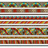 Ethnic background design with hand drawn ornament Royalty Free Stock Image