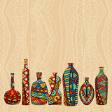 Ethnic Background With Fancy Bottles Royalty Free Stock Photo