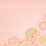 Ethnic background with mandalas and patterns Stock Images