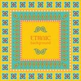Ethnic background ornamental frame Stock Images