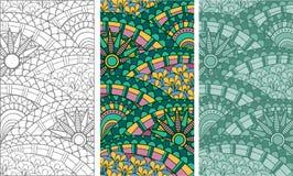 Ethnic background pattern Stock Image