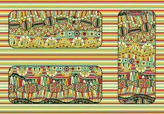 Ethnic background set Royalty Free Stock Image