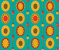 Ethnic_background_1. Vector seamless pattern. You can use it for packaging design, textile design and scrapbooking Royalty Free Stock Image