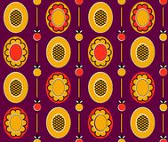Ethnic_background_2. Vector seamless pattern. You can use it for packaging design, textile design and scrapbooking Royalty Free Stock Photo
