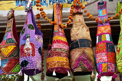 Ethnic bags in Indian market Royalty Free Stock Photography