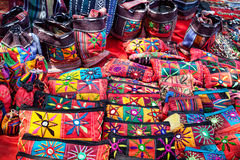 Ethnic bags and wallets Royalty Free Stock Image