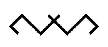 Ethnic baltic Hidden cross ornamental symbol. Vector illustration. royalty free stock photo