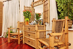 Ethnic Bamboo Furniture Stock Photo