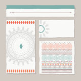 Ethnic banners and backgrounds Royalty Free Stock Image