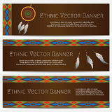 Ethnic Banners with Dream Catcher Royalty Free Stock Image