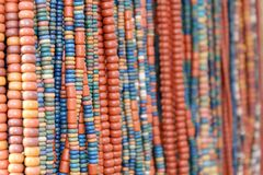 Ethnic beads. Hanging for sale Royalty Free Stock Images