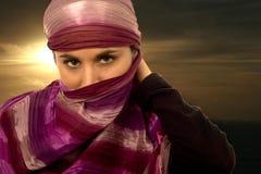 Ethnic beautiful green eyes woman Royalty Free Stock Photos