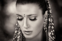 Ethnic Beauty. Hindu Woman Royalty Free Stock Photos