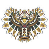Ethnic bird with beautiful patterns in graphical style. Vector i stock images