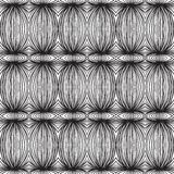 Ethnic black and white linear pattern. Tribal black and white linear pattern, vector seamless background, wallpaper, or textile Royalty Free Stock Image