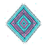 Ethnic blue ornament royalty free illustration