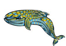 Ethnic blue whale Stock Photos