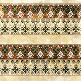 Ethnic boho grunge old pattern. Tribal art print, colorful  Royalty Free Stock Images