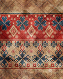 Ethnic boho grunge pattern. Tribal art print. Colorful vintage b Royalty Free Stock Photo